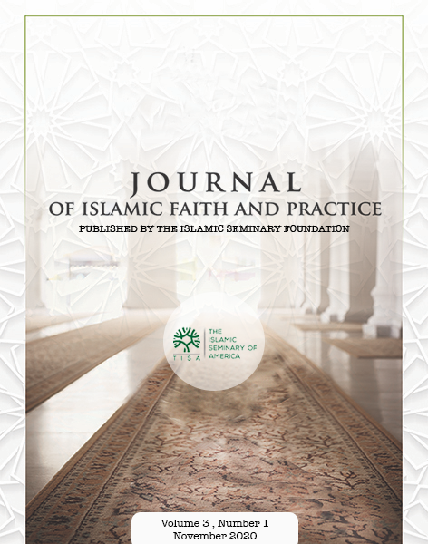 Journal of Islamic Faith and Practice volume 3 number 1cover