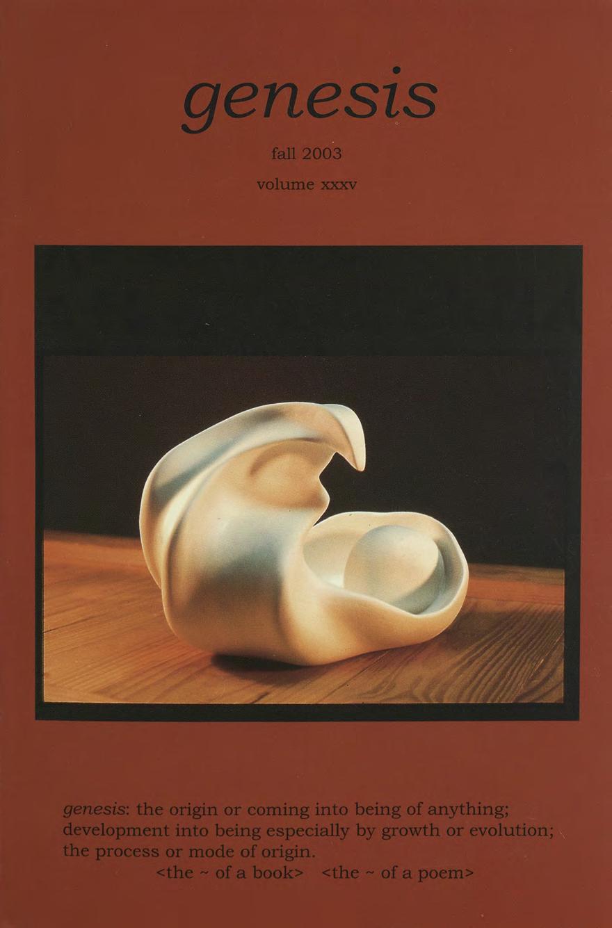 genesis fall 2003 cover