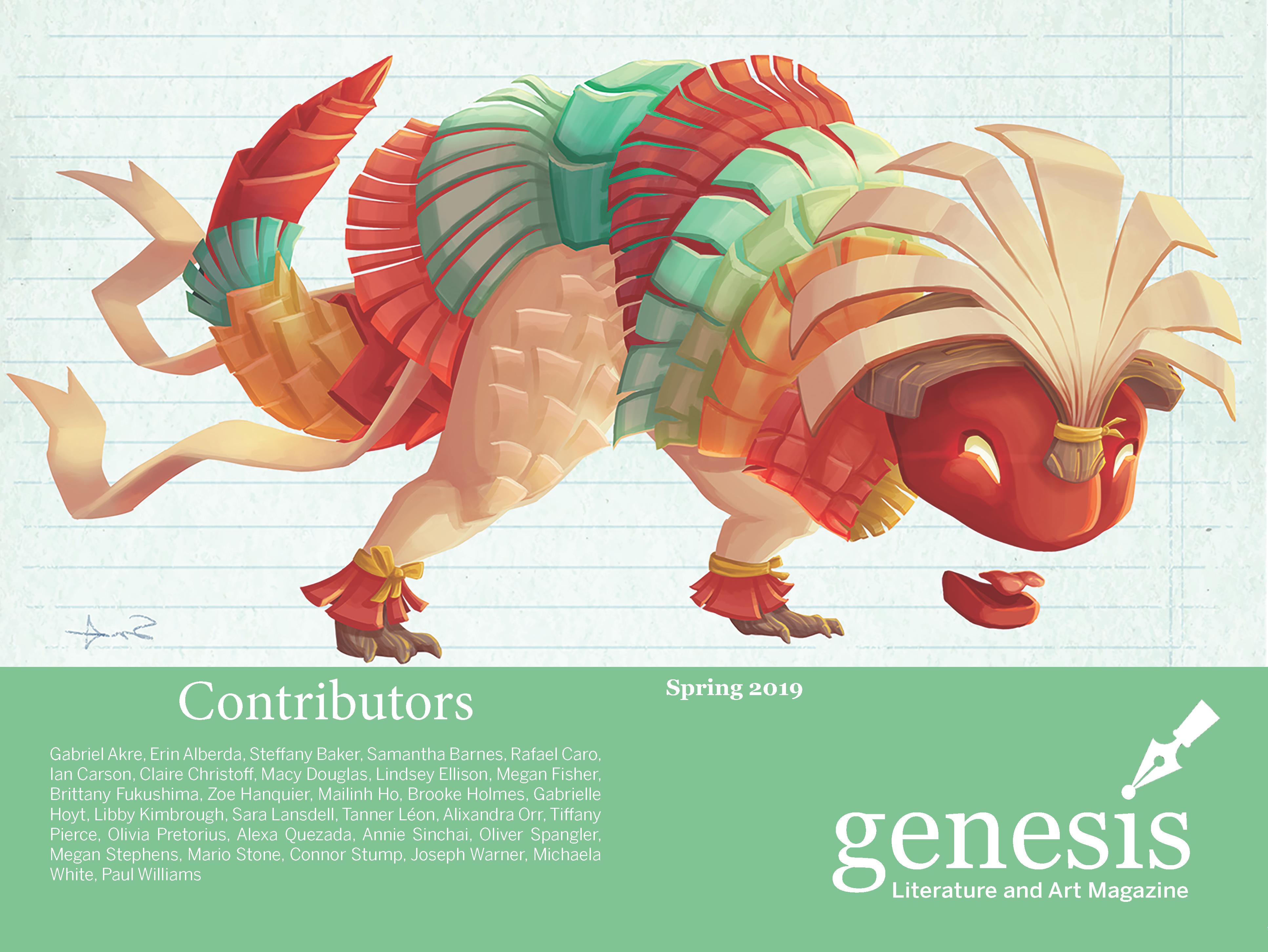 genesis Spring 2019 cover