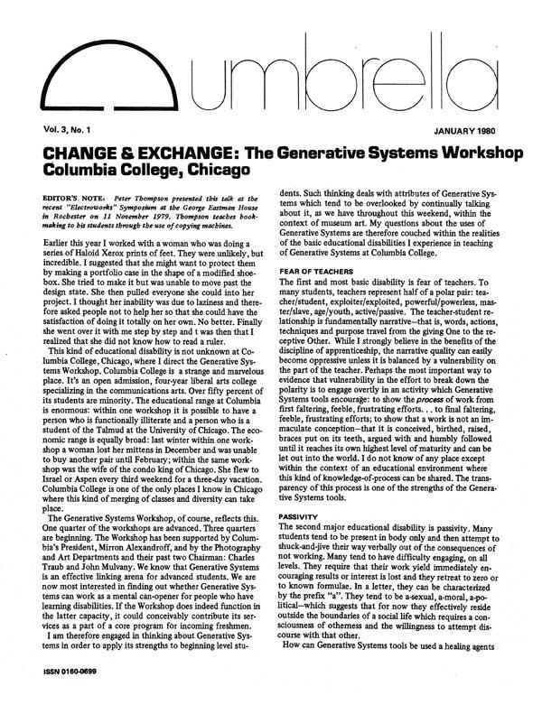 View Vol. 3 No. 1 (1980)